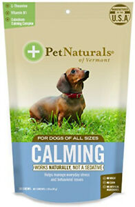 Calming Formula for Dogs by Pet Naturals of Vermont, 30 chews