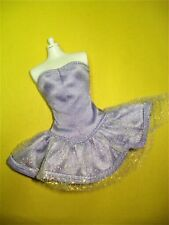 Vtg Barbie 90s Tagged Doll Clothes Lavender Sweetheart Dress B Label