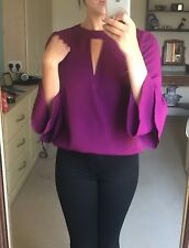 Purple Flute Sleeve Blouse by F&F Size 6