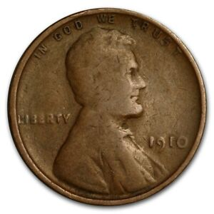1910 Lincoln Wheat Penny - G/VG