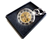 Reloj de bolsillo cuerda manual ,( 640) para bolso,Mecánico Reloj,con cadena y