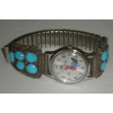 Disney Goofy Women's Lorus Quartz Watch # V516-6A00, Turquoise Band Pre-Owned