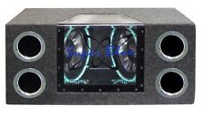 "Pyramid BNPS102 Bandpass Box Dual 10"" 1000 Watt; Neon Lighting"