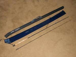 """NOS GUIDE SERIES PLATEAU IM7 Graphite Fly Fishing Rod 3wt #3 Line 7' 6"""" Case"""