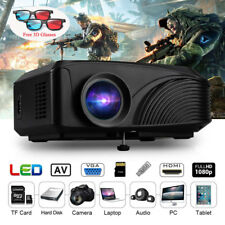 1080P Mini Full HD 3D LED Projector Home Cinema Theater Multimedia HDMI USB VGA