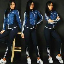 Adidas  sportanzug Damen  fitnes ,joging ,  sanf Blau jacke mit  leggings gr S