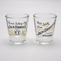 Jack Daniels Tennessee Whiskey Shot Glasses Lot of 2 - Old No 7 and Sour Mash
