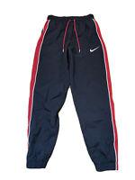 Nike Men's NSW Throwback Woven Basketball Pants Black Red AV6652-010 Size Small