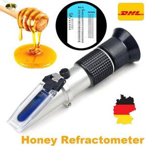 ATC Refraktometer Honig Imker Wasser Zucker Gehalt, Brix: 58-90% Wasser: 10-33%