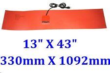 """13"""" X 43"""" 330 X 1092mm 1000W  Tank Drum Barrel Band Control Silicon Heat Blanket"""