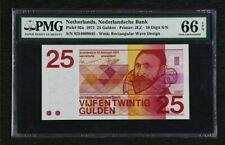 Netherlands/Niederlande 25 Gulden 1971 P. 92a PMG : 66