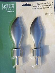 Kirsch Platinum/Silver Curtain Rod Finials