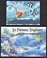 REPUBLIQUE CENTRAFRICAINE 2011 - LES POISSONS TROPICAUX FISH MARINA STAMPS MNH**