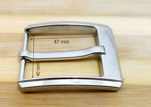Shiny Silver, 1.5 Inches (38-40 mm) Belt Buckle Anti Allergy Buckles