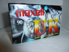 5 x MAXELL UR 90 Cassette Tapes | Normal position, cleaning leader tape. SEALED.