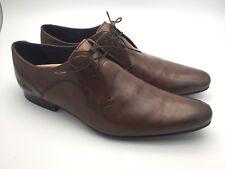 c24157ba1c9a5 Ted Baker MARRT 2 Brown Leather Derby Dress Shoes Sz. 13 US