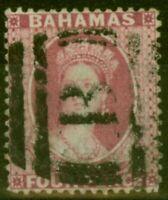 Bahamas 1882 4d Rose SG43x Wmk Reversed Fine Used