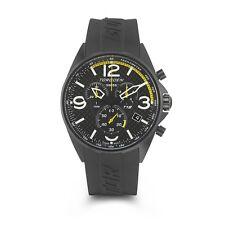 New Torgoen T18 Men's Chronograph 45mm Sport Race Watch Black Strap T18CF2IP45R