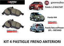 KIT 4 PASTICCHE FRENO ANTERIORI PER FIAT PANDA 1.3 MULTIJET DIESEL - GPL -METANO