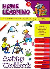 Home Learning Activity Workbook Age 3+ Educational Pre-School Children Writing
