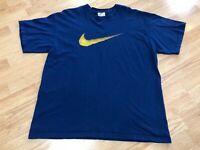 Vintage Nike Swoosh Logo T-Shirt Blue Men's Size Large