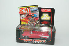 ROAD CHAMPS DIECAST 1957 CHEVROLET BEL AIR CONVERTIBLE, RED, 1:43, NEW IN BOX