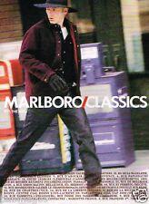 Publicité advertising 1998 Pret à porter vetement Marlboro Clasics