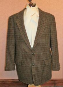 Vintage Men's Becon Berlin Hand Woven Harris Tweed Jacket 100% Wool