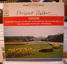 LP BRUNO WALTER CONDUCTS HAYDN--COLUMBIA 2 eye 360 STEREO--SYMPHONY No 88/No 100