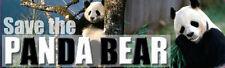 SAVE THE PANDA BEAR Ecology Photo Sticker
