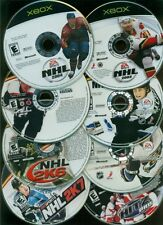 Xbox, Lot of 8 Hockey Video Games, Used, NO CASES!