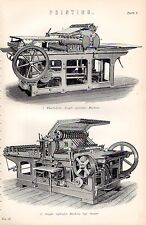 1880 PRINT ~ PRINTING ~ WHARFEDALE SINGLE CYLINDER MACHINE MACHINE TOP FEEDER
