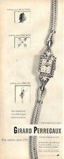 1952 Girard Perregaux Beautiful Precious Precise  Watch  PRINT AD
