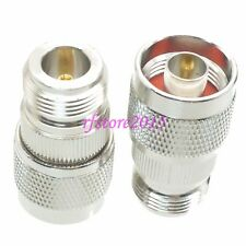 1pce Adapter Connector N male plug to N female jack straight for Communication