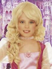 Childrens Blonde Barbie Wig Glamour Princess Diva Fancy Dress