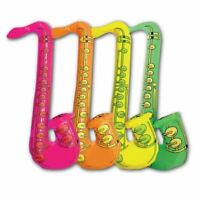4 Inflatable Saxophone Rock & Roll Music Disco Fancy Dress Party Bag Fillers Toy