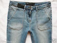 BNWT NEXT NEW Ladies  light blue crop ankle roll leg skinny Capri jeans 10 30/29