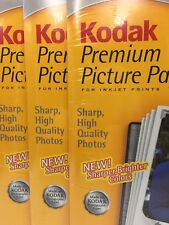 Lot of 3 Kodak Premium Picture Paper 15 Sheets Per High Gloss 8 1/2 x 11 Inkjet