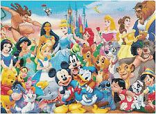 Mickey & Friends 14 Count Cross Stitch Kit