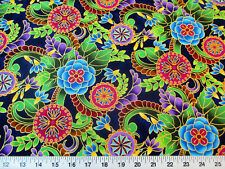 Fabric Quilting Cotton Legacy Studio Polynesia Master Medallion Floral