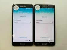 Lot of 2 Google Locked Samsung Galaxy Note 4 N910A AT&T Check IMEI GLD IG-785