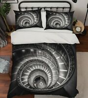 3D Spiral Staircase ZHUA562 Bed Pillowcases Quilt Duvet Cover Set Queen King Zoe