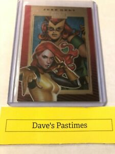 JEAN GREY / Marvel 75th Anniversary (2014) Ruby Red 49/50 Trading Card #43