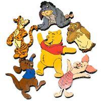 Lot of 6 Vtg Disney WINNIE THE POOH WALL ART WOOD DECOR EEYORE TIGGER PIGLET ROO