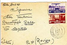 POSTA MILITARE N.70-ERITREA 15c+30c Soggetti Africani-Busta x Rovigo 28.8.1935