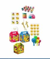 Emoji Party Bag box & Fillers Pre Filled Boys Girls Birthday Party Bags For Kids