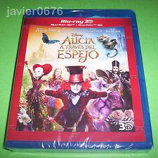 ALICIA A TRAVES DEL ESPEJO DISNEY BLU-RAY 3D + BLU-RAY NUEVO Y PRECINTADO