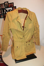 Vtg 60 - 70s  Great Six BRASS button Short original DRENCH TRENCH COAT JACKET