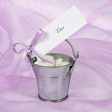 12x Mini Eimer Silber Gastgeschenk Hochzeit taufe