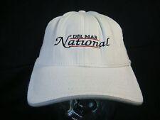 """NEW Men's M/L Del Mar National """"2004"""" White Legendary Golf Hat (B494)"""